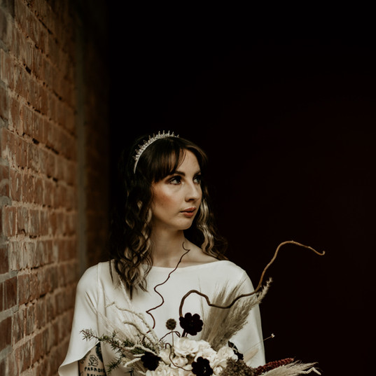 spiked-headpiece-wedding-edgy-urban-goth
