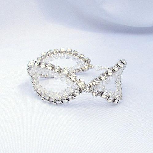 Vintage style Swarovski crystal bracelet