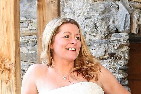 Rachel Chaprunne designer on her wedding day