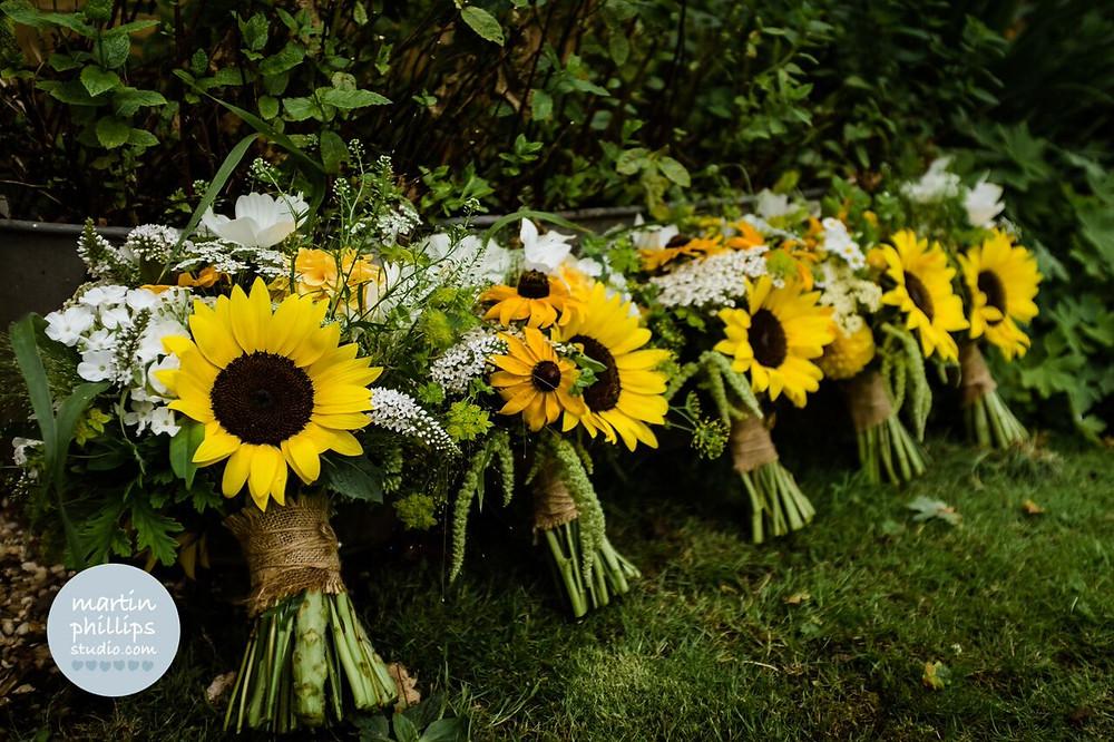Wedding flowers - sunflowers