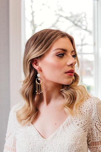 Statement bohemian bridal earrings - Cyrene
