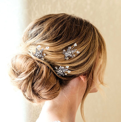 Celestial star bridal hair pins - Astoria