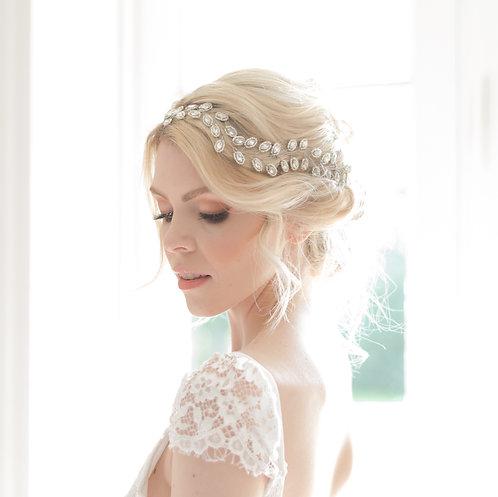 Unique Crystal Wedding Hair piece - Azalona
