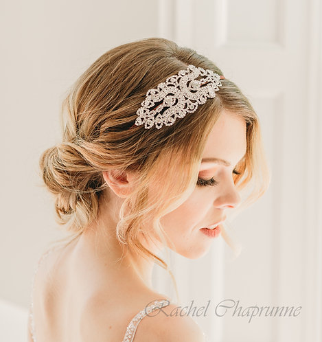 Crystal vintage bridal headpiece.
