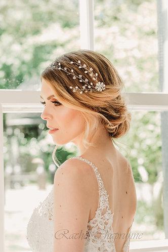Boho vintage wedding hair vine - Camellia