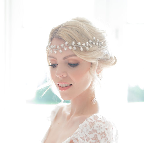 Luxury Pearl Wedding Hair Vine - Auralia
