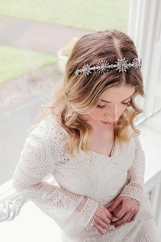 Star wedding headband in silver - Portia