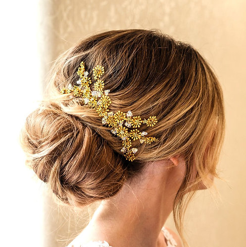 Star bridal headpiece in silver or gold - Starlight