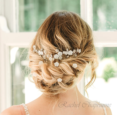 Bridal hair vine with hair pins