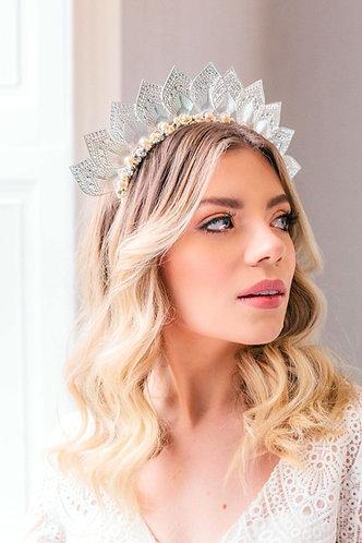 Boho Bridal Headpiece in silver - Alula