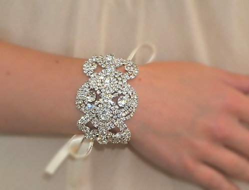 Vintage wedding bracelet with crystals