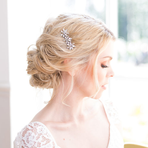 Simple bridal hair comb for a pretty up do