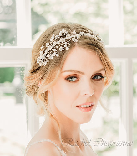 Swarovski wedding headpiece with pearls
