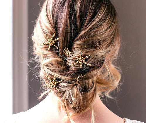 Celestial wedding hair pins - mix and match in gold