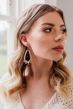 Statement pearl drop earrings in bohemian style