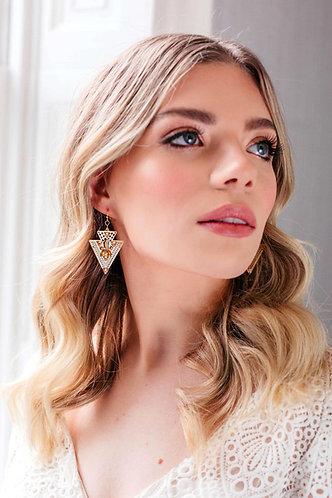 Art Deco vintage wedding earrings - Deja