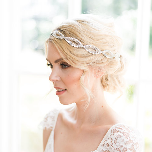 Art deco wedding headpiece