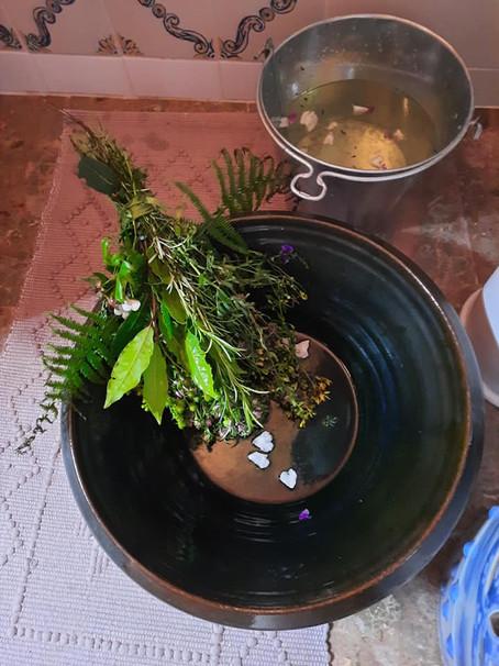 Banho de 9 águas 9 plantas sagradas