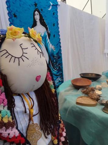A Deusa Maia, r epresentação criada pelo grupo de Sacerdotisas do Jardim das Hespérides em formação nesse ano