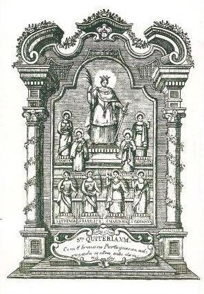 Pagela das Nove Irmãs, encontrada na  basílica de Meca, Alenquer