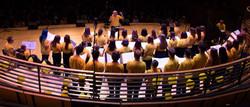Choir from behind