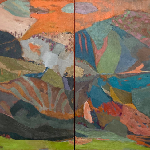 Earth Spin Diptych - Sold
