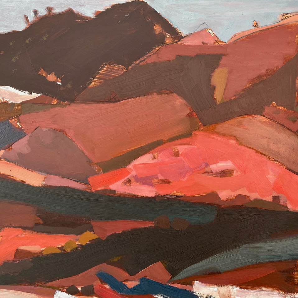 Sunday Roads 40 x 50cm.Meagan Jacobs.jpe