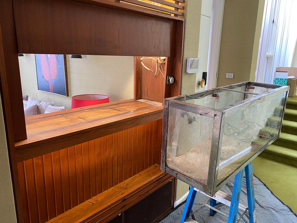 Removing Old In Wall Aquarium