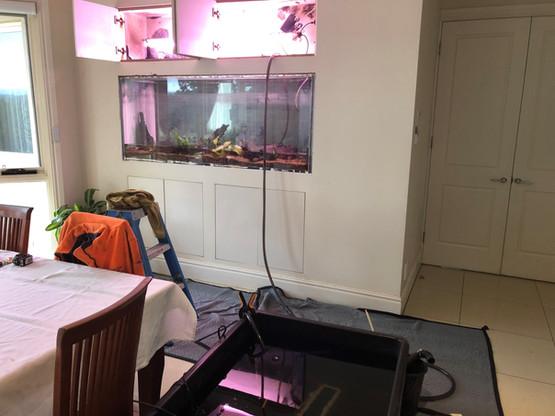 Removal of old leaking aquarium