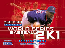 World Serie Baseball 2K1 prototype main