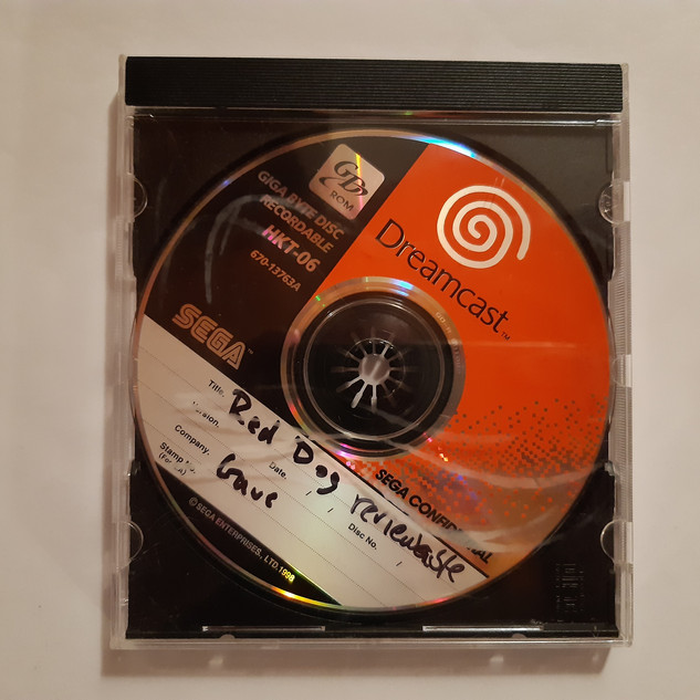 Red Dog sega dreamcast prototype