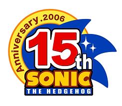 15 th Sonic The Hedgehog Sega logo