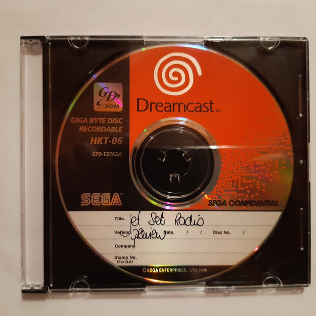 Jet Set Radio sega dreamcast prototype
