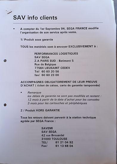 Charte SEGA SAV 1994.jpg