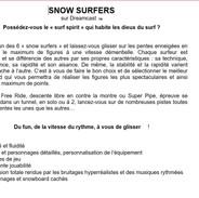 Snow Surfer Sega Dreamcast présentation.