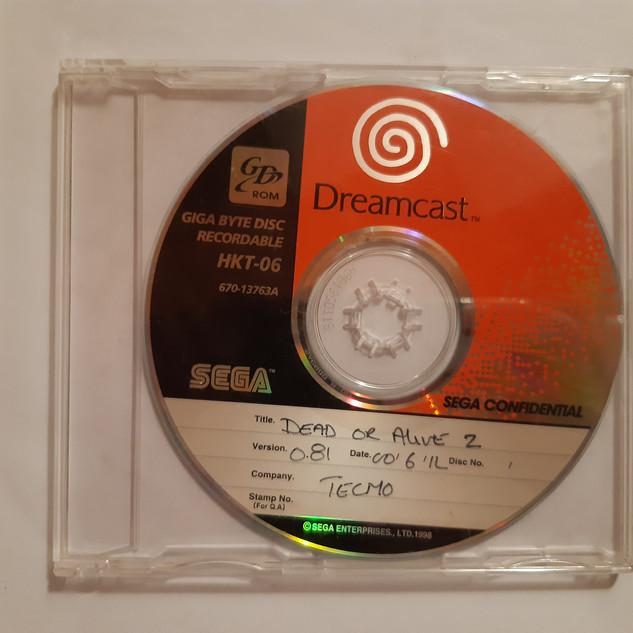 Dead or Alive 2 sega dreamcast prototype