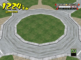 Crazy Taxi prototype rond point