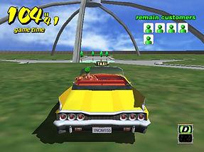 Crazy Taxi beta dreamcast crazy box sans décors