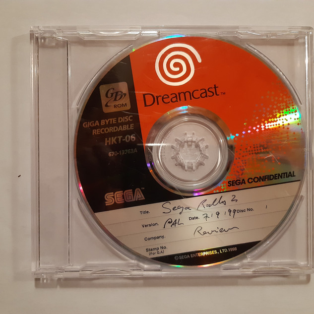 Sega Rally 2 sega dreamcast prototype