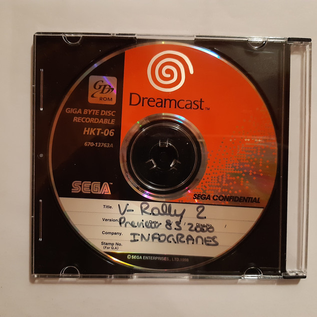 V Rally 2 (2) sega dreamcast prototype