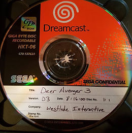 Dear Avenger 3 dreamcast prototype
