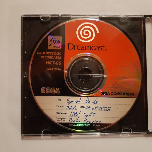Speed Devil sega dreamcast prototype