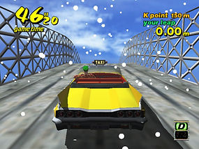Crazy Taxi dreamcast prototype crazy jump