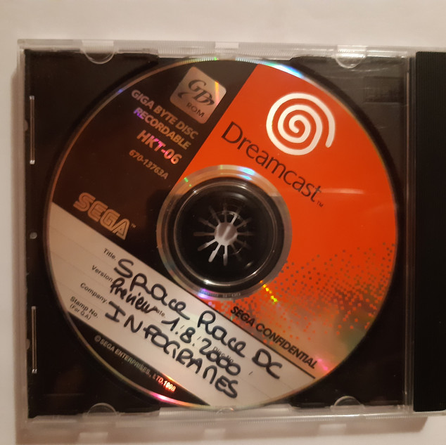 Space Race sega dreamcast prototype