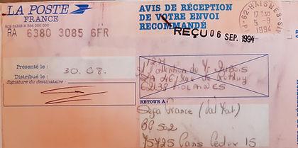 IM2 récépissé résiliation contrat SEGA F