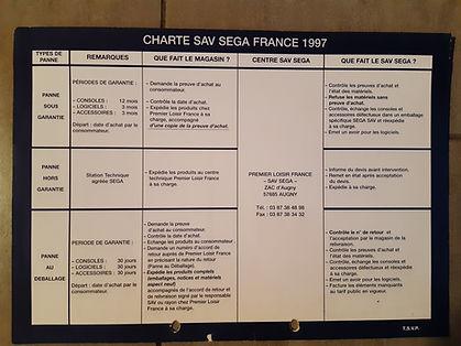 Charte SAV SEGA France par Premier Loisi