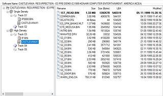 Castlevania Resurrection Dreamcast exploration fichier 2