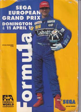 Sega European Grand Prix Donington Progr