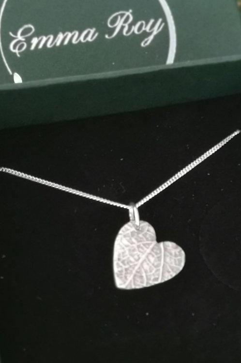 3D Leaf Heart necklace