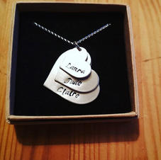 Hand stamped stacker pendant